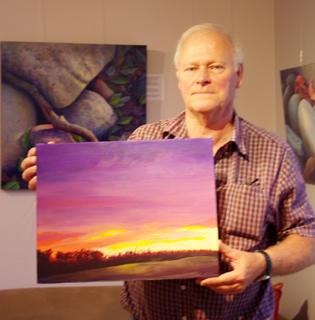 This is Robert and his very first painting. Ever! Congratulations, Robert! I hope you will do more.