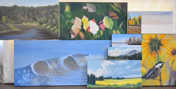 new paintings in progress, Judy Leila Schafers fine Art