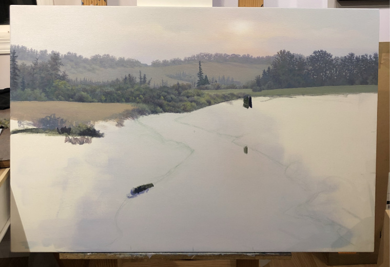 landscape river scene progress